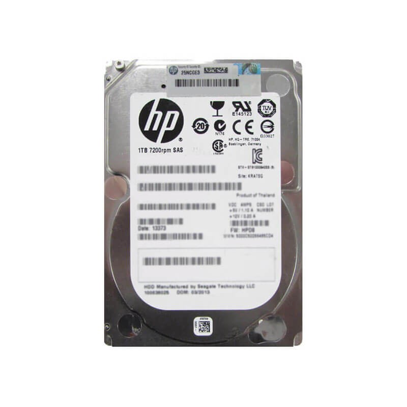HDD Refurbished HP 727397-001 1TB SAS 6Gbps 7200RPM 2.5 inch