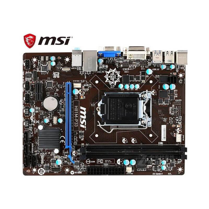Placi de baza Refurbished MSI H81M-P33, Socket 1150