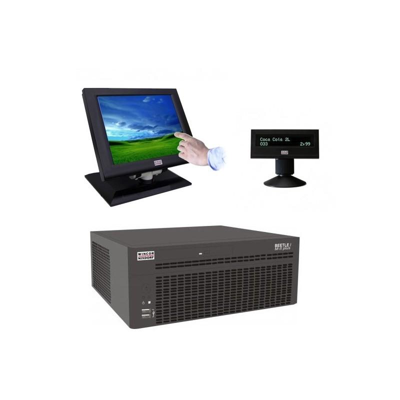 Sisteme POS Wincor Beetle M-II Plus G41, Touchscreen BA72 12 inch, display client BA63