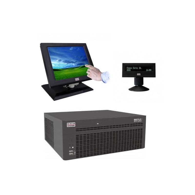 Sisteme POS Wincor Beetle M-II Plus G41, Touchscreen IR BA73A-2 15 inch, display client BA63
